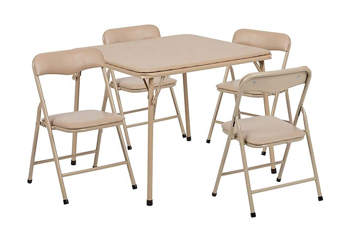Flash Furniture Folding Table And Chair