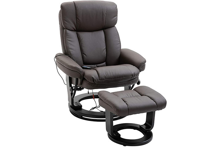 HOMCOM Recliner With Footrest