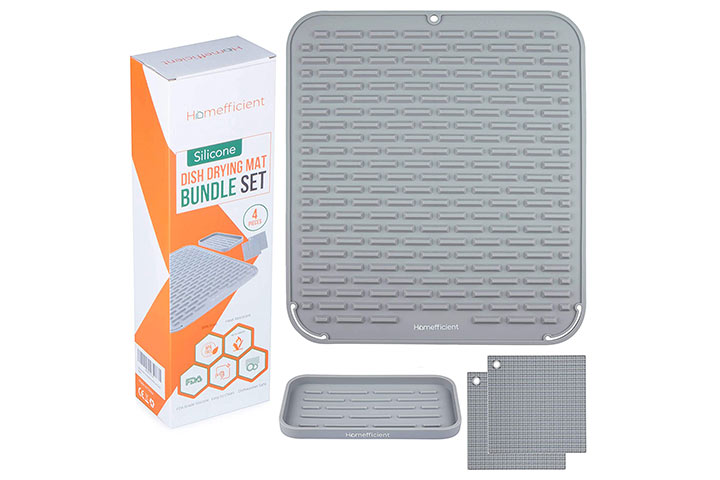 Homefficient Silicone Dish Drying Mat