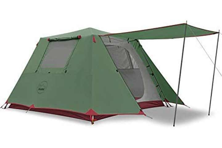 Kazoo Family Camping Tent With Automatic Aluminum Pole