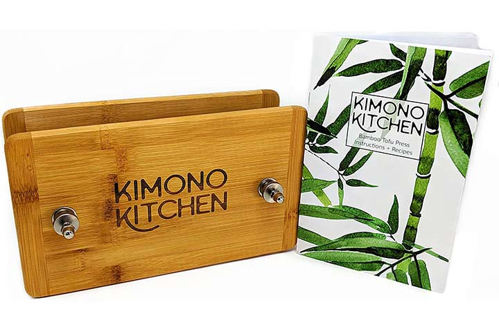 Kimono Kitchen Bamboo Wooden Tofu Press