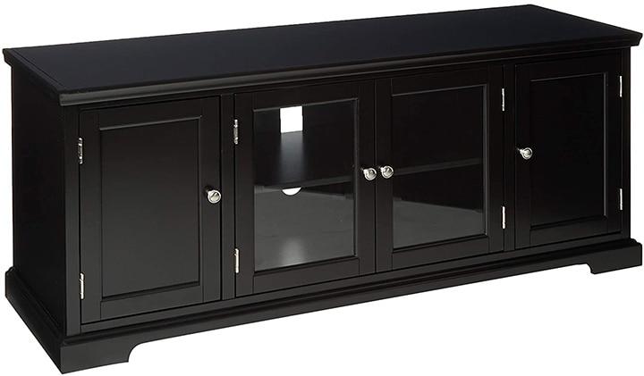 Leick Black Hardwood TV Stand
