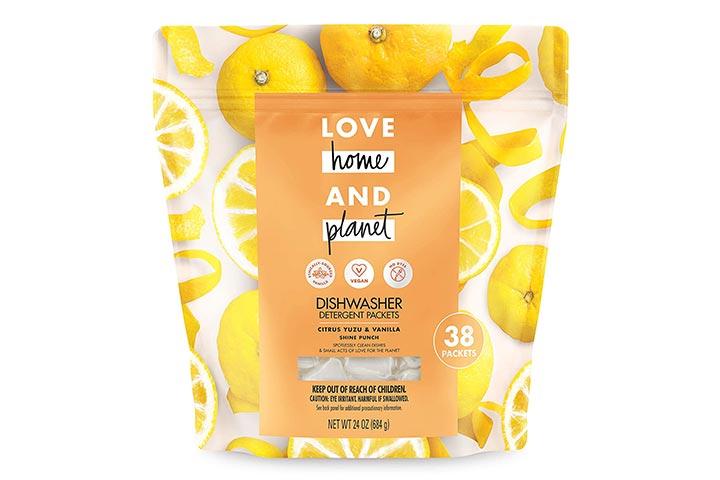 Love Home and Planet Dishwasher Detergent, Citrus Yuzu & Vanilla