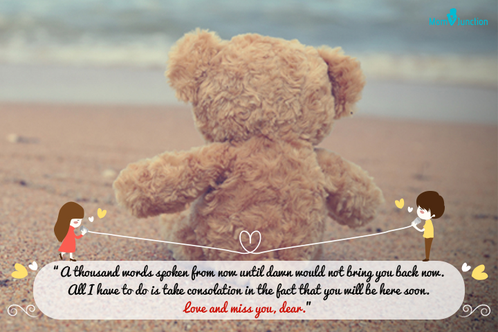"""""""A thousand words spoken from now until dawn would not bring you back now. All I have to do is take consolation in the fact that you will be here soon. Love and miss you, dear."""""""