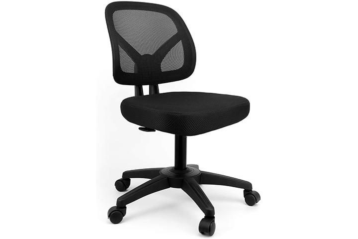 Mysuntown Ergonomic Small Armless Chair