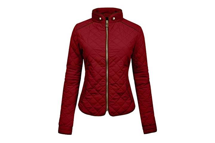 NE People Women's Quilted Zip Jacket