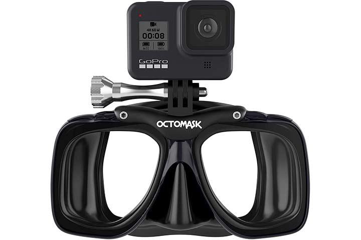 OCTOMASK - Dive Mask wMount For GoPro Cameras