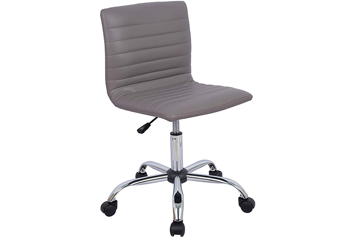Orveay Low Back Armless Home Office Chair