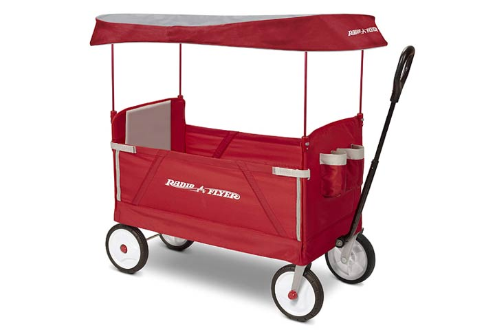 Radio Flyer 3-In-1 EZ Folding, Outdoor Collapsible Wagon