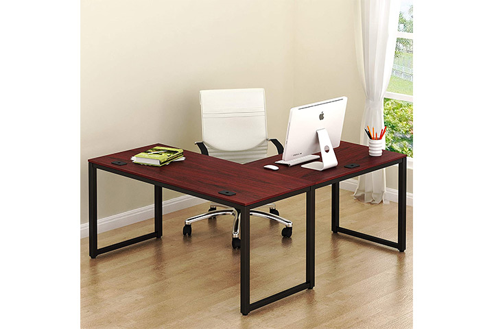 SHW L-Shaped Home Office Desk