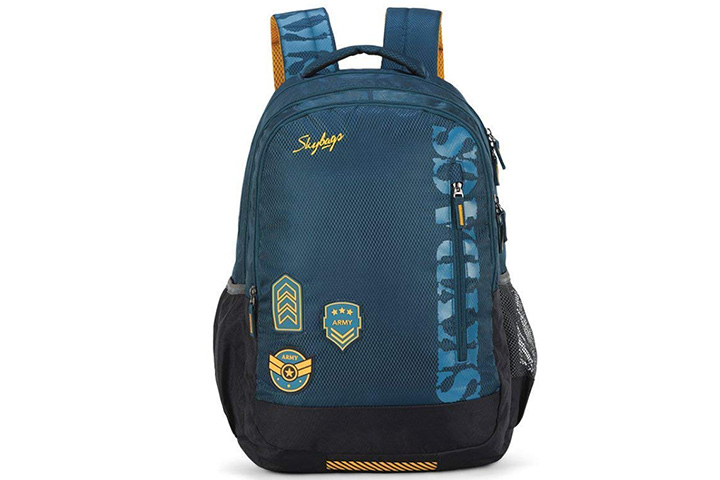 Skybags Stream Polyester Spacious School Backpack