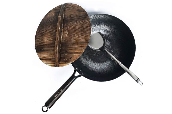 Souped Up Recipes Carbon Steel Wok for Electric, Induction, and Gas Stoves