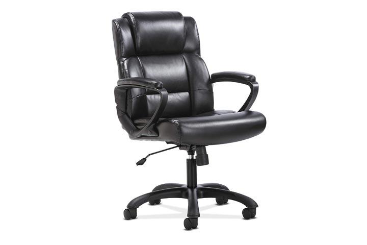 The HON Company Sadie Leather Executive ComputerOffice Chair