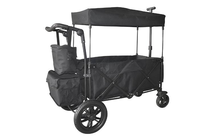 WagonBuddy Black Push And Pull Wagon