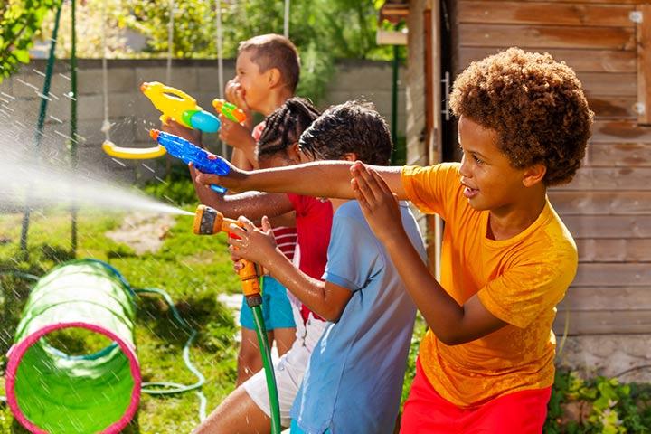 Water gun learning activity