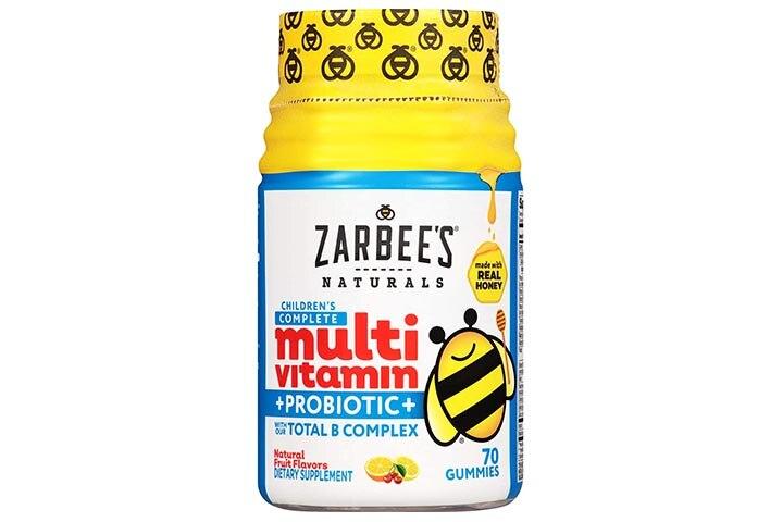 Zarbee's Natural Children's Complete Multivitamin + Probiotic Gummies