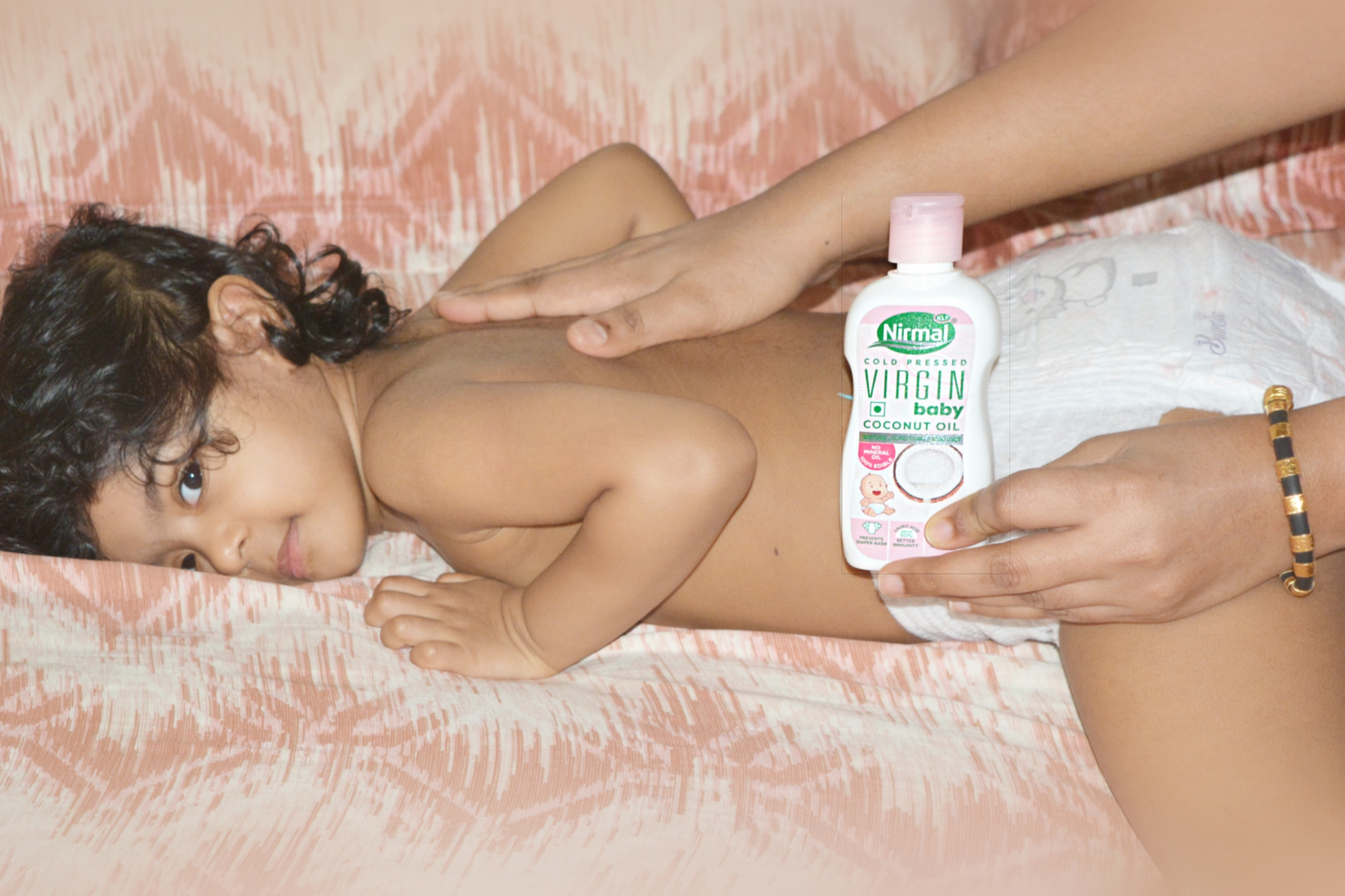 KLF Nirmal Cold Pressed Virgin Baby Coconut oil-Best Virgin Coconut Oil for babies-By meghanatulasi