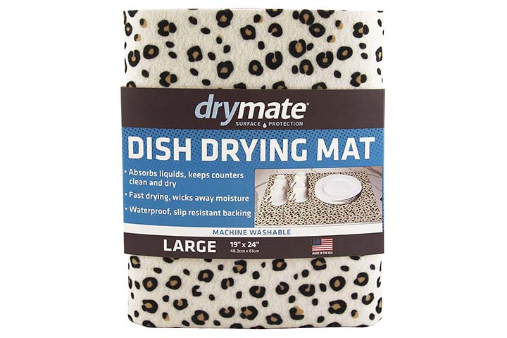 drymate Dish Drying Mat - Leopard