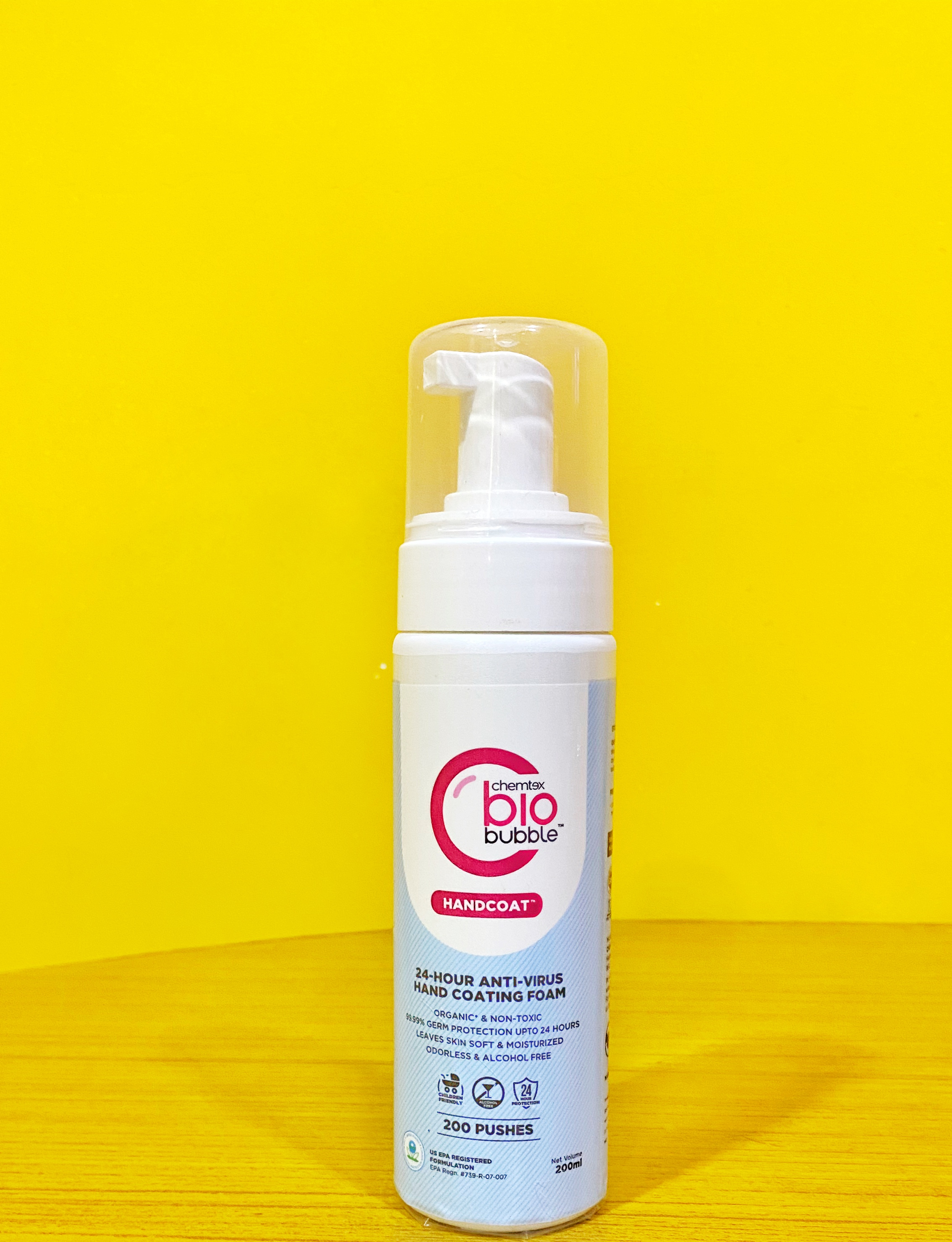 Chemtext BioBubble HandCoat-Child friendly disinfectant foam-By avyukth_n_mamma