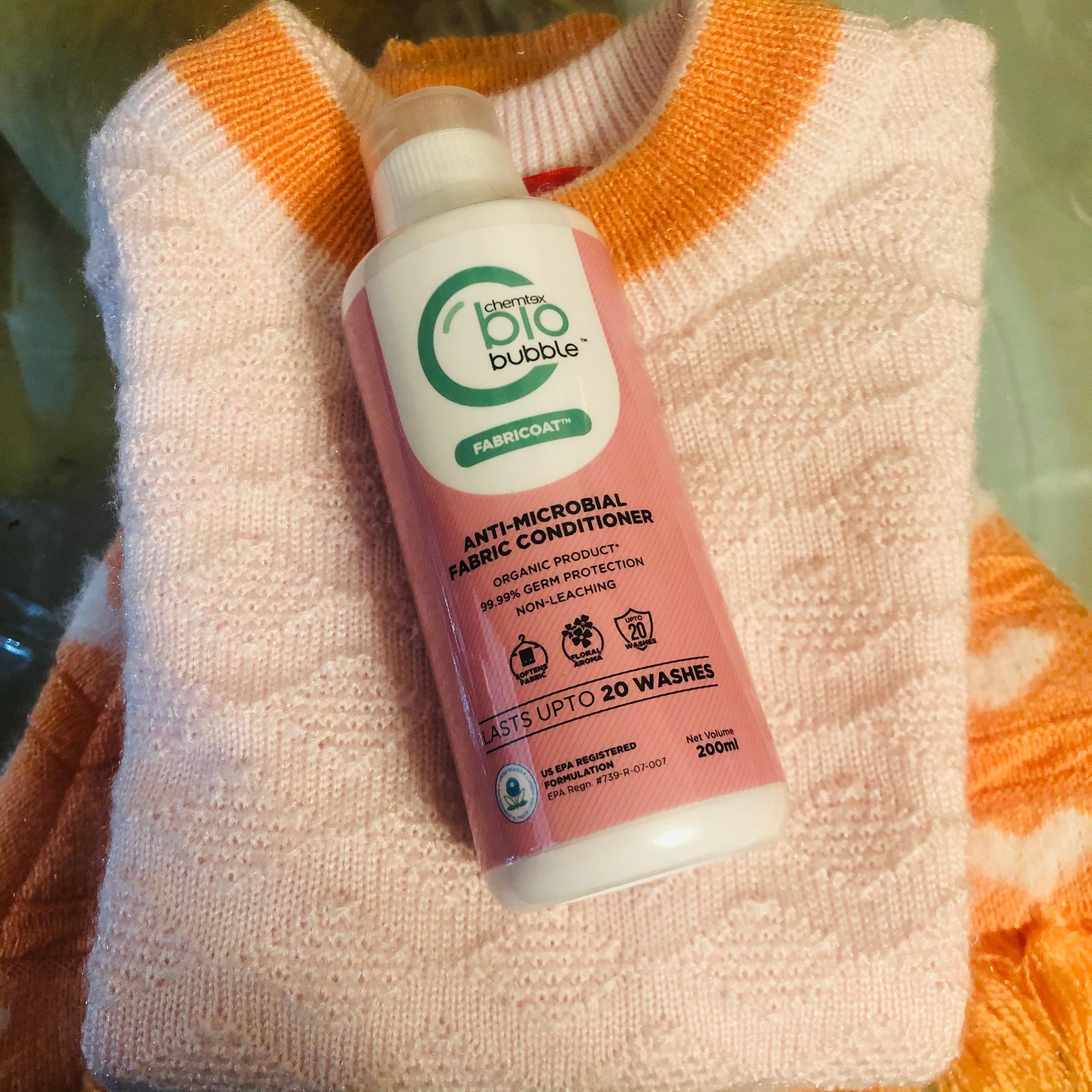Chemtext Biobubble Fabricoat-Organic Fabric Conditioner keeps germs away-By priyanshi_saini