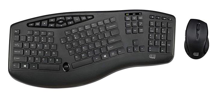 Adesso Truform Wireless Ergonomic Keyboard