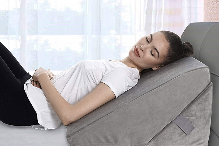 All Set Health Bed Wedge Pillow With Folding