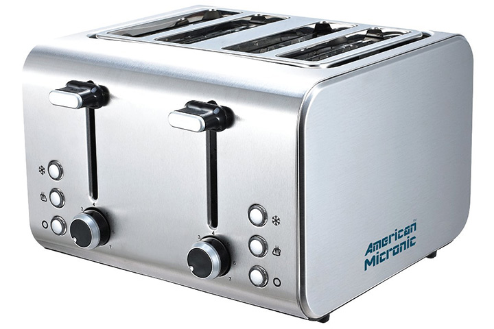 American Micronic Stainless Steel Pop-up Toaster