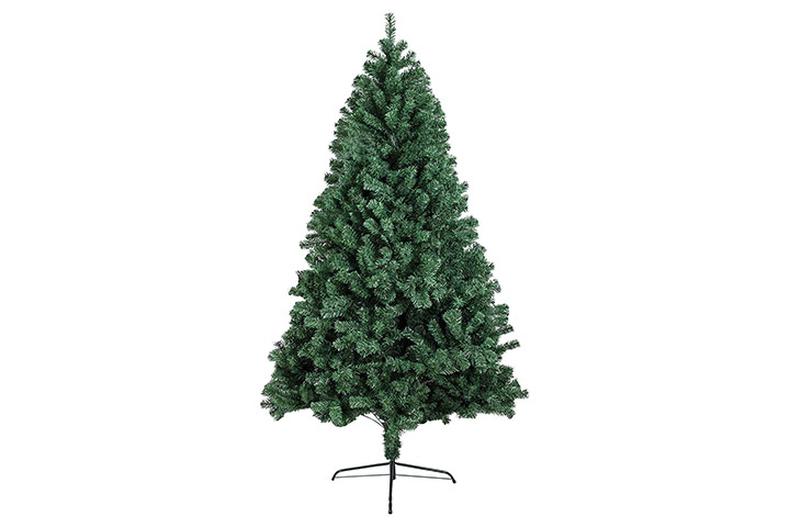 BHD BEAUTY Hinged Artificial Christmas Pine Tree
