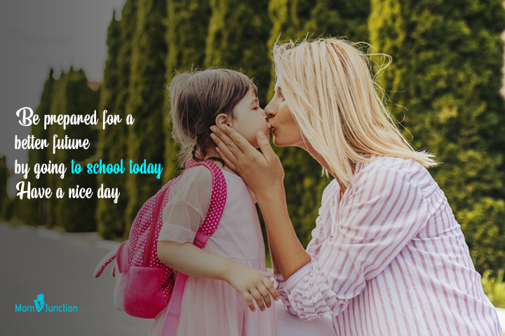 Be prepared for a better future by going to school today. Have a nice day