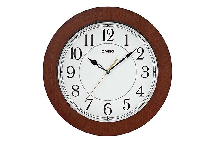 Casio Round Resin Wall Clock