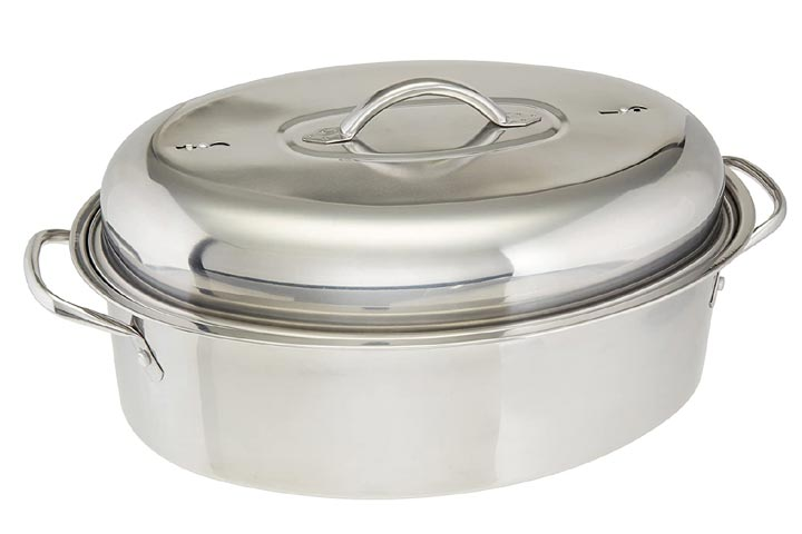 Cook Pro All-in-1 Stainless High Dome Roaster and Fish Poacher