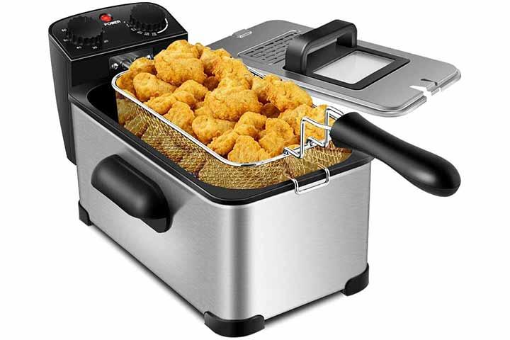 13. Costway Deep Fryer, 1700W Electric Stainless Steel Deep Fryer