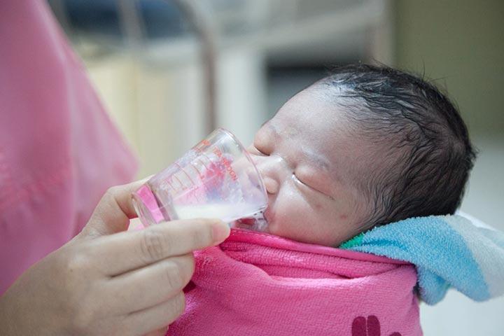 Cup-Feeding A Baby