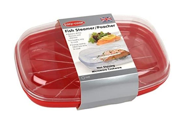 Easy Cook Microwave Fish Steamer Poacher