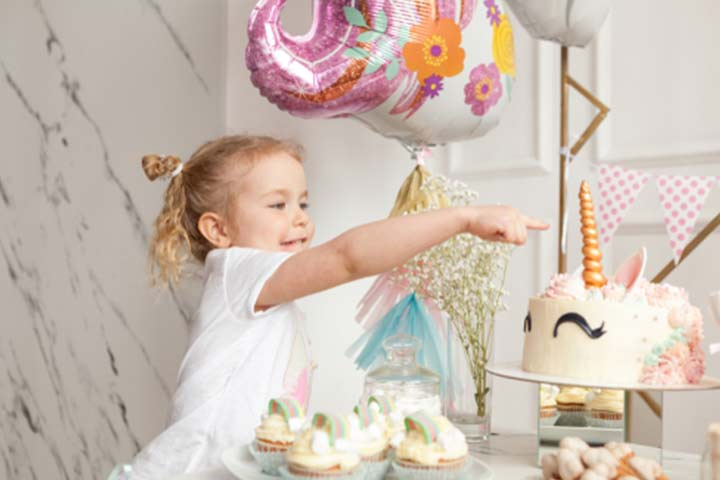 Fairies, unicorns, and rainbow-themed birthday party