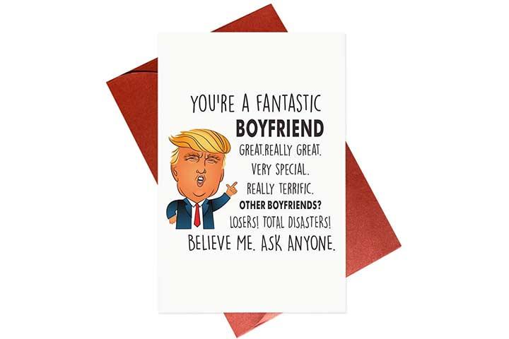 Gonzey Funny Trump Boyfriend Card