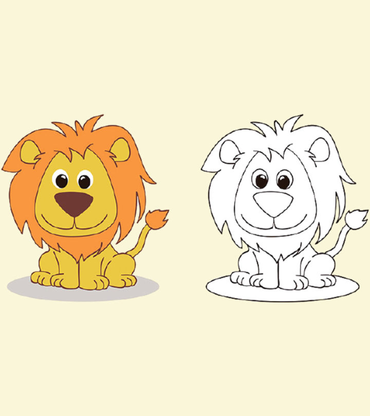 How To Draw A Lion For Kids Easy Step-By-Step Tutorial