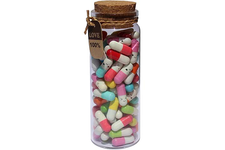 INFMETRY Message In A Bottle Capsule Letters