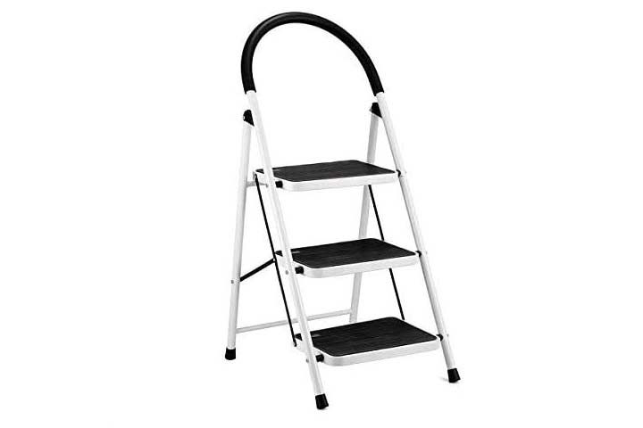 KINGSO 3 Step Ladder Folding Step Stool