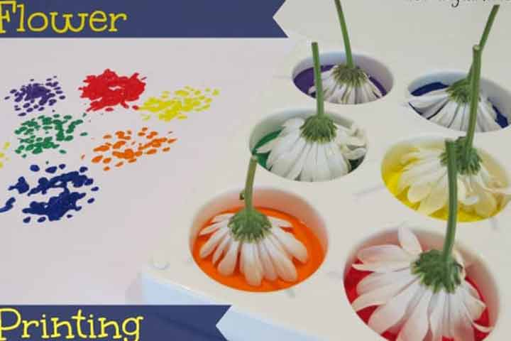 Leaf and flower printing