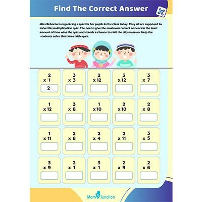 Second Grade Multiplication Worksheets For Kids - Free & Printable  MomJunction
