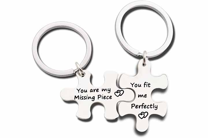 Niceter Silver Keychain Rings
