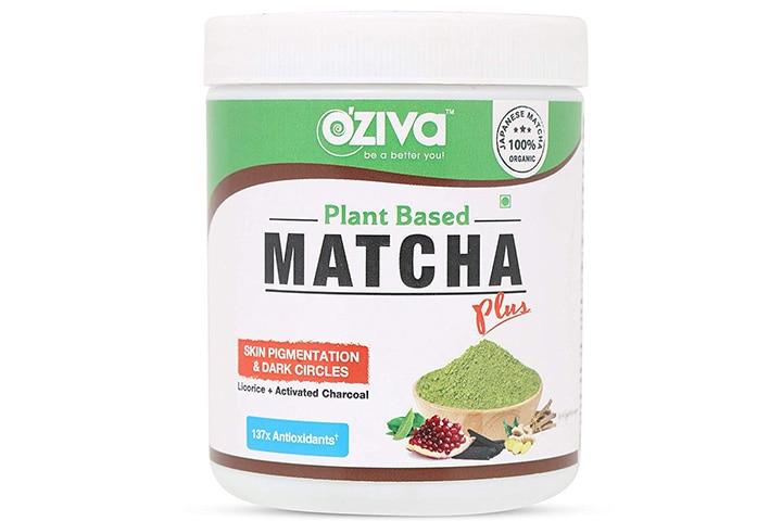 OZiva Plant-Based Matcha Plus Green Tea