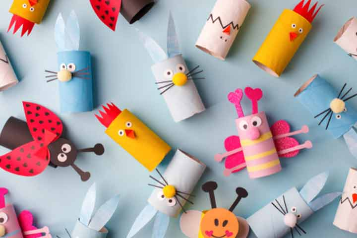 Old toilet paper roll craft