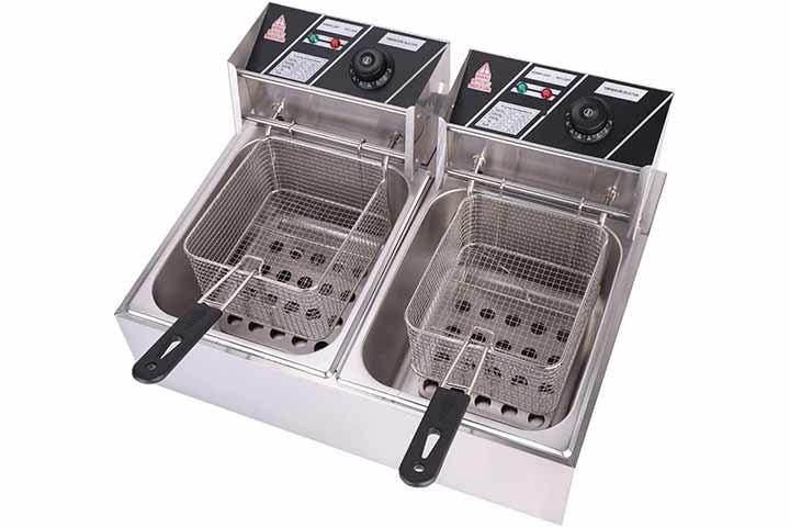 Olym Store Electric Deep Fryer wBasket & Lid