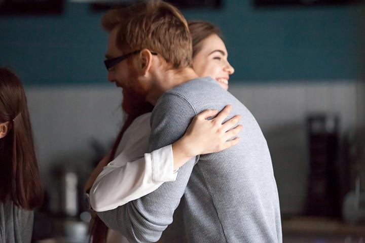 Patting hug