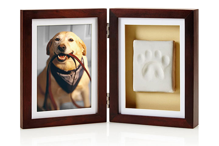 Pearhead Dog Or Cat Paw Print Keepsake Photo Frame