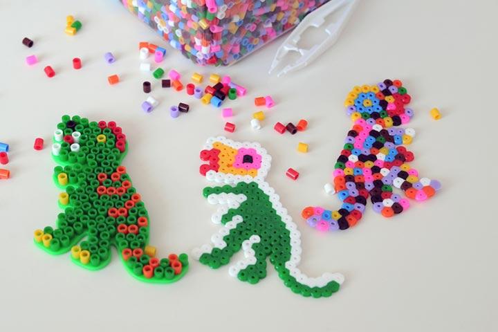 Perler bead dinosaur