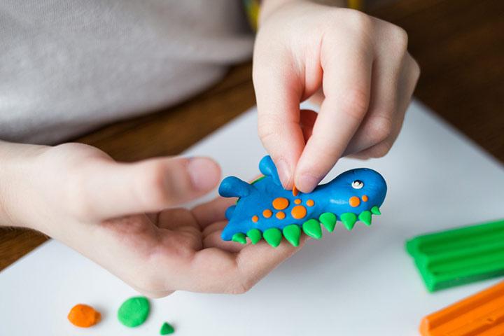 Play-Doh dinos
