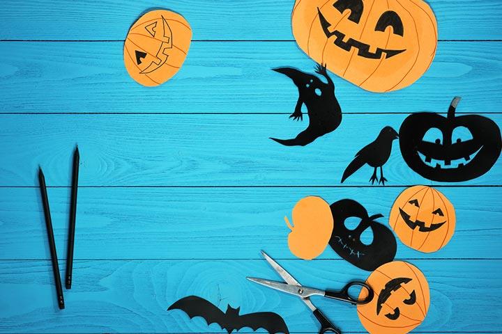 Pumpkin cutouts for windows